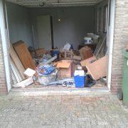 Garage ontruimen vol voor ontruiming