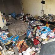 Vervuilde woningontruimen slaapkamer